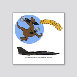 "FB-111A 68-0271 Bomerang Square Sticker 3"" x 3"""