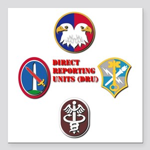 "Direct Reporting Unit (D Square Car Magnet 3"" x 3"""