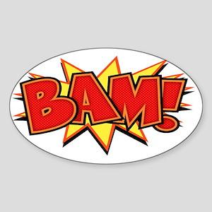 bam3-CAP Sticker (Oval)