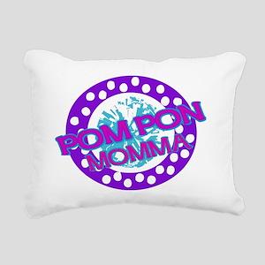PomPon Mom Rectangular Canvas Pillow