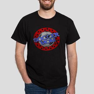 Soccer Mom Red White Blue Dark T-Shirt