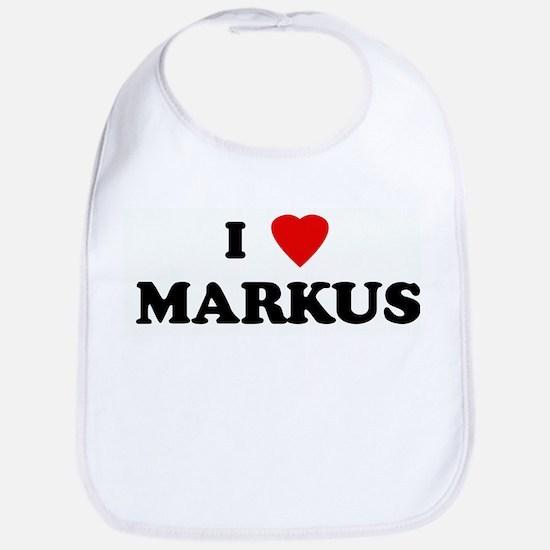 I Love MARKUS Bib