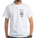 Cartoon Abrahamster White T-Shirt