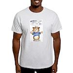 Cartoon Abrahamster Ash Grey T-Shirt