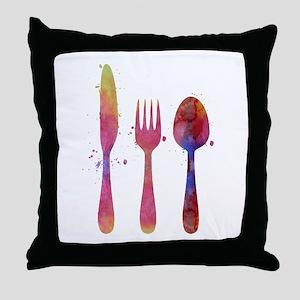 Cutlery Throw Pillow