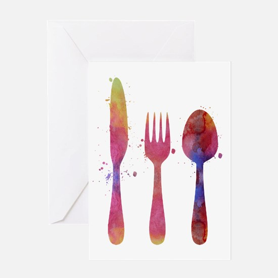 Cutlery Greeting Cards