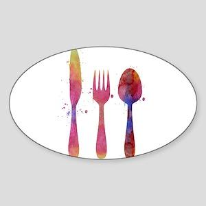 Cutlery Sticker