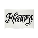 Black and White Navy Rectangle Magnet (100 pack)