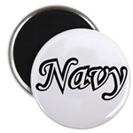 Black and White Navy Magnet