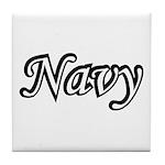 Black and White Navy Tile Coaster