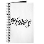 Black and White Navy Journal