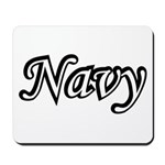 Black and White Navy Mousepad