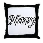 Black and White Navy  Throw Pillow