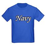 Black and White Navy Kids Dark T-Shirt