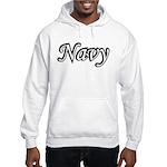 Black and White Navy Hooded Sweatshirt