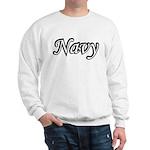 Black and White Navy Sweatshirt