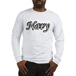 Black and White Navy Long Sleeve T-Shirt