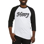 Black and White Navy Baseball Jersey