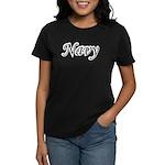 Black and White Navy Women's Dark T-Shirt