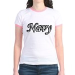 Black and White Navy Jr. Ringer T-Shirt