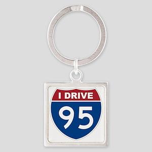 I Drive 95 Square Keychain