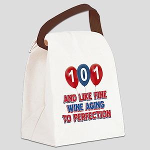 101st year birthday designs Canvas Lunch Bag