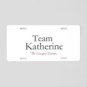 Team Katherine Aluminum License Plate