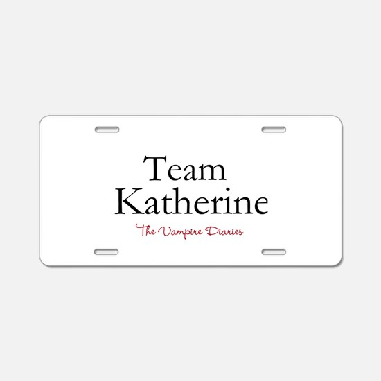 Team Katherine Aluminum License Plate