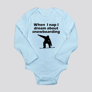 I Dream About Snowboarding Body Suit