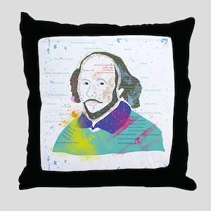 Portrait of William Shakespeare Throw Pillow