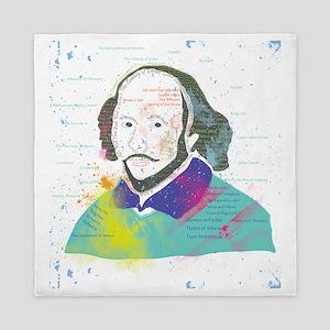 Portrait of William Shakespeare Queen Duvet