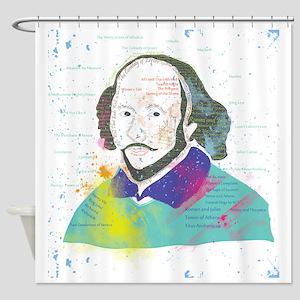 Portrait of William Shakespeare Shower Curtain