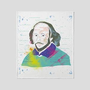 Portrait of William Shakespeare Throw Blanket