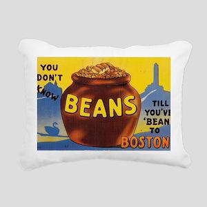Boston Baked Beans Rectangular Canvas Pillow