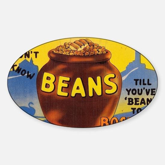Boston Baked Beans Sticker (Oval)