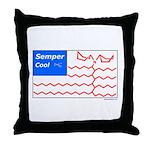 Molecule Flag Throw Pillow