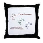 Phosphonosect Molecule Throw Pillow