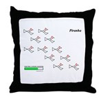 Piranhas fish molecules Throw Pillow