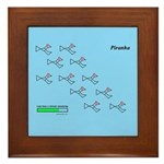 Piranhas fish molecules Framed Tile