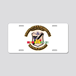 VMA-214 w VN SVC Ribbon Aluminum License Plate