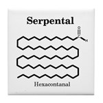 Serpental Molecule Tile Coaster