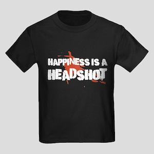Headshot Happiness Kids Dark T-Shirt
