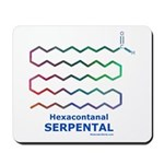 Serpental molecule Mousepad