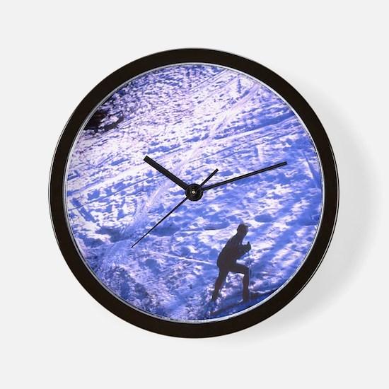 ski slope Wall Clock