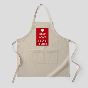 Keep Calm Abnd Hug A Ferret Apron