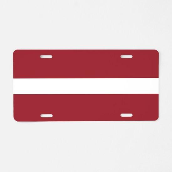 Flag of Latvia Aluminum License Plate