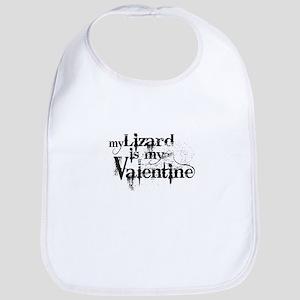 My Lizard is My Valentine Bib