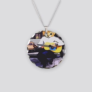 Street Cat Music Necklace Circle Charm