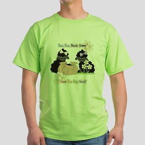 Baa Baa Black Sheep  Green T-Shirt