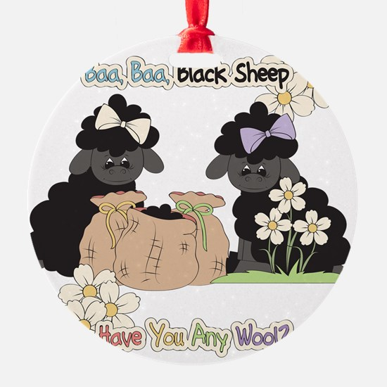 Baa Baa Black Sheep  Ornament